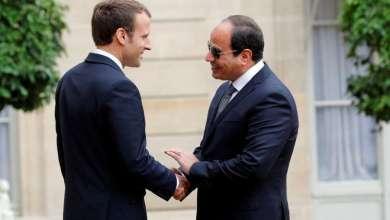 الرئيس المصري، عبد الفتاح السيسي، خلال لقائه مع نظيره الفرنسي، إيمانويل ماكرون