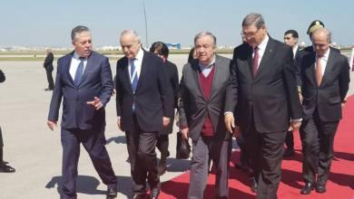سلامة يستقبل غوتيريش في تونس