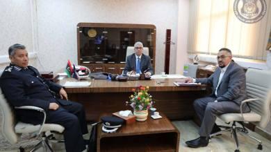 فتحي باشاغا ع رئيس جهاز الشرطة السياحية العميد المبروك الزائدي