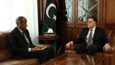 اجتماع فائز السراج مع رئيس تأسيسية صياغة مشروع الدستور الجيلاني رحومة