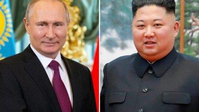الزعيم الكوري الشمالي كيم جونغ أون والرئيس الروسي فلاديمير بوتين.