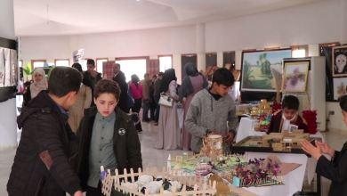 معرض مواهب الفن التشكيلي ينظمه مكتب النشاط المدرسي زليتن