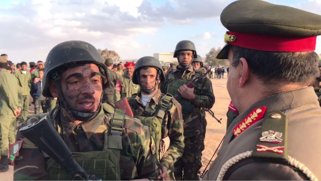 منطقة طبرق العسكرية - تخريج دفعة صاعقة ومظلات