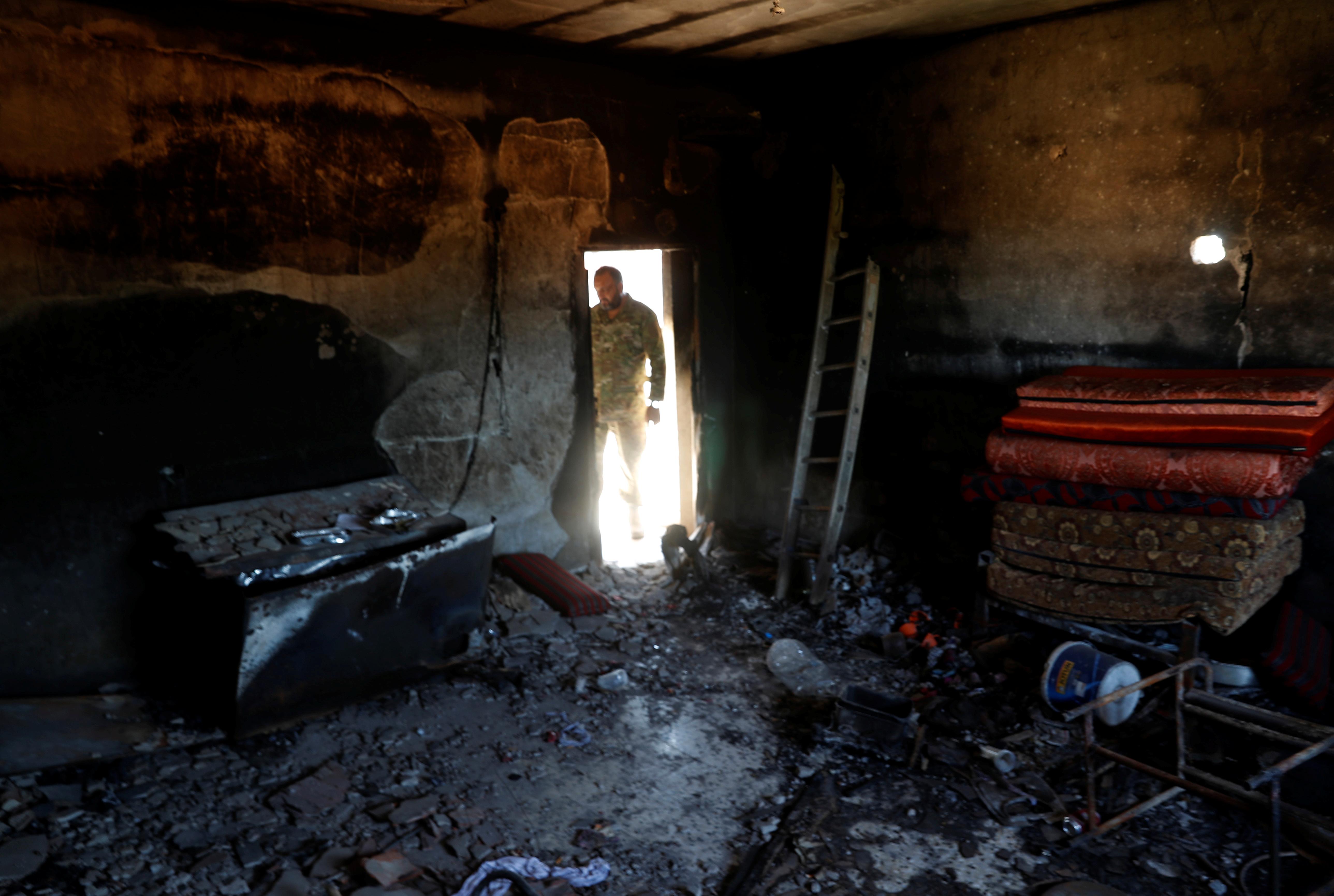 آثار الدمار نتيجة القصف والنزاع المسلح جنوب طرابلس