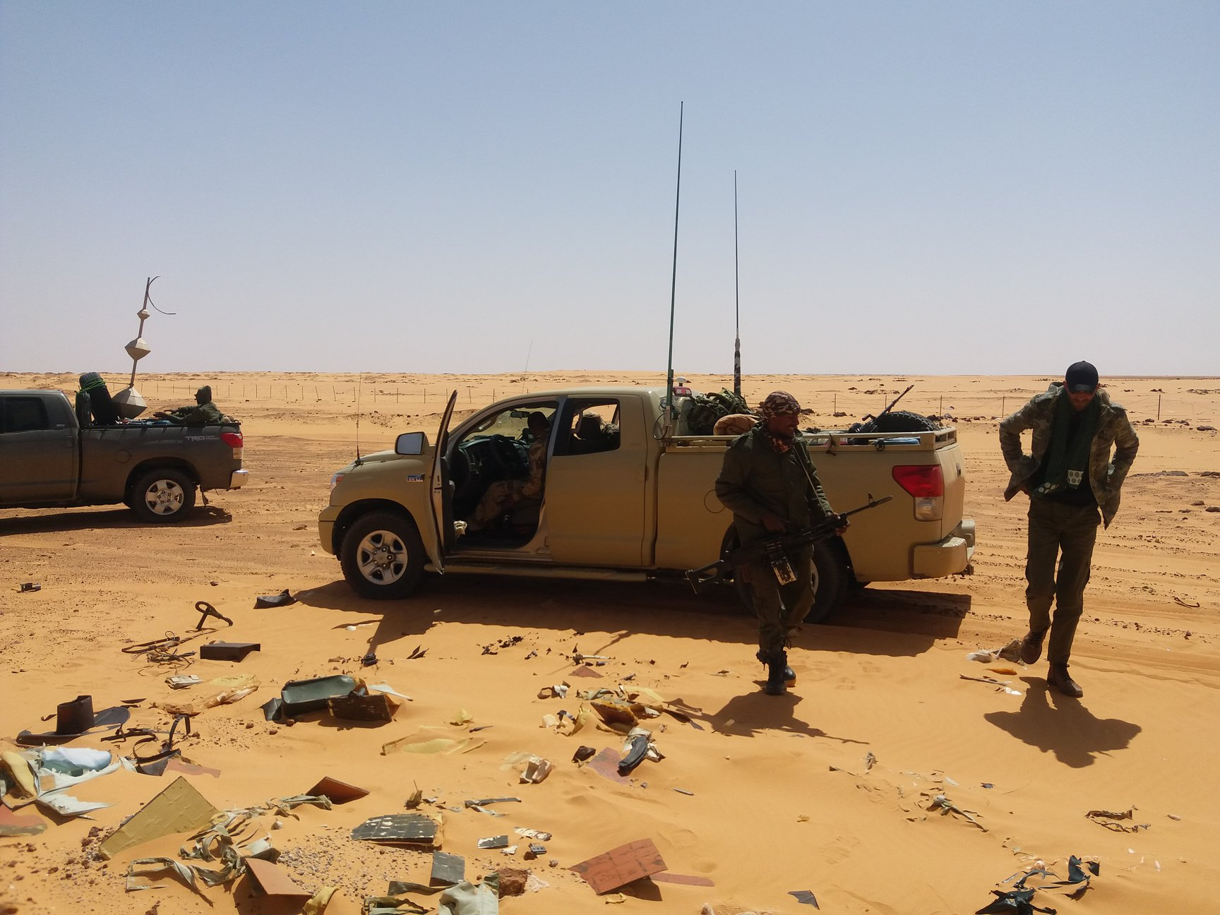 منطقة الكفرة العسكرية تصادر سيارات تمتهن التهريب