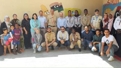 وفد من اليونيسيف يزور مركز إيواء النازحين في أبوسليم