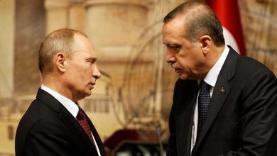 الرئيس التركي رجب أردوغان والرئيس الروسي فلاديمير بوتين