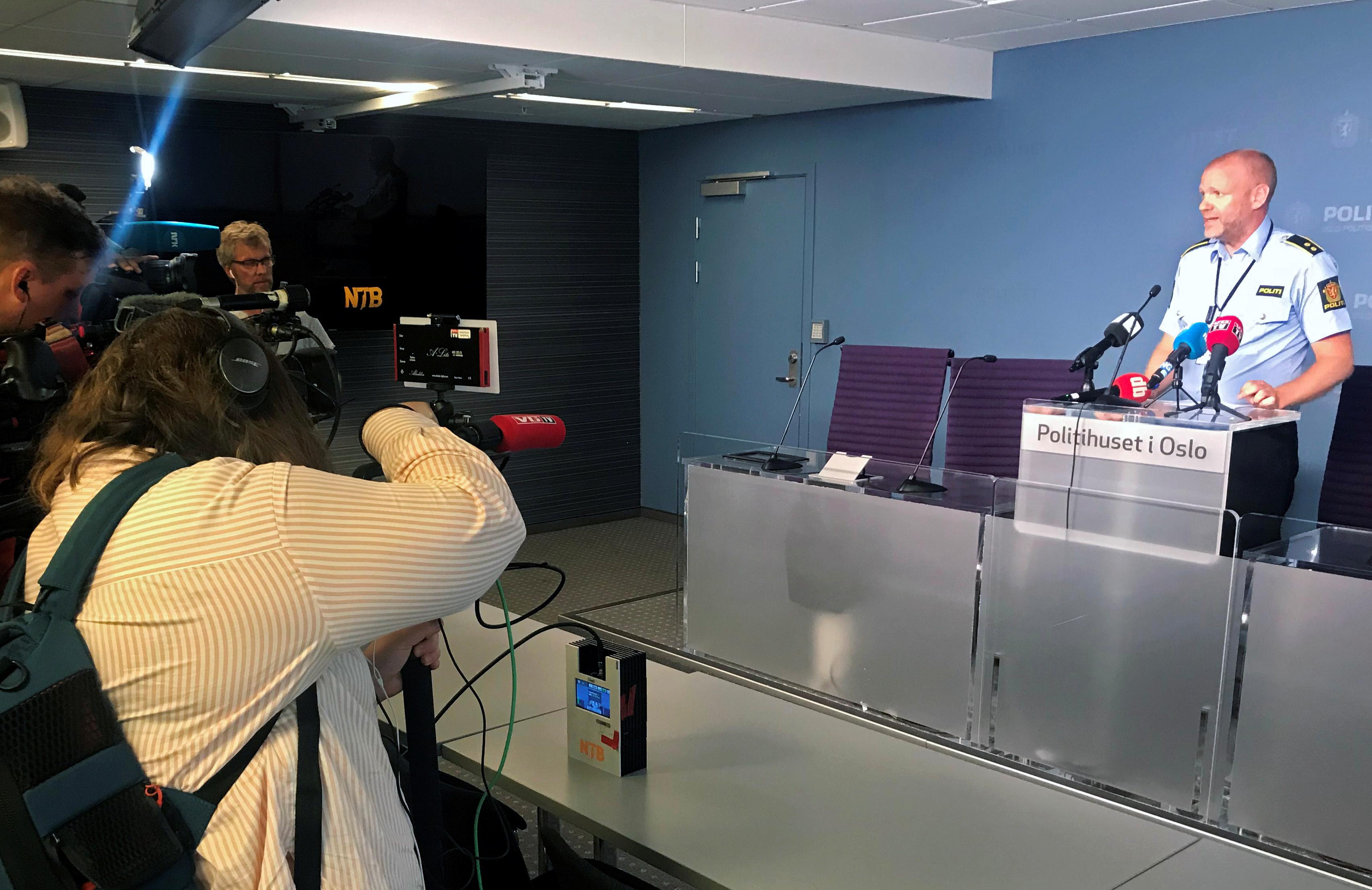 المؤتمر الصحفي للشرطة النرويجية