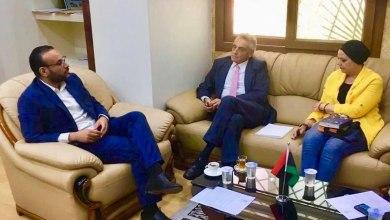 وكيل وزارة الصحة بحكومة الوفاق محمد عيسى يلتقي السفير الايطالي لدى ليبيا جوزيبي بوتشينو