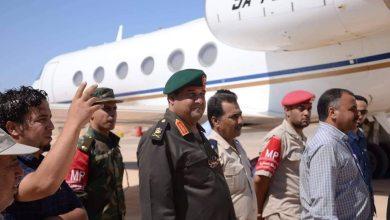 اللواء هاشم بورقعة -آمر منطقة طبرق العسكرية - في جولة تفقدية لمطار طبرق الدولي
