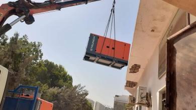 تركيب مولد كهربائي للمركز الصحي شهداء الانتصار في أبوسليم
