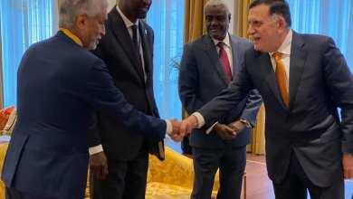 السراج يجتمع مع رئيس مفوضية الاتحاد الأفريقي