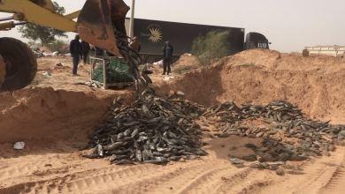 صرمان .. إتلاف 20 طن من أسماك التونة الفاسدة