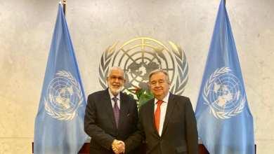 لقاء وزير خارجية الوفاق مع الأمين العام للأمم المتحدة