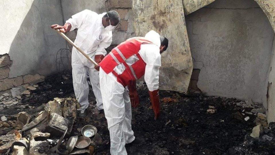 سبها .. حريق في منزل بمخيم الــ 80 في حي المنشية