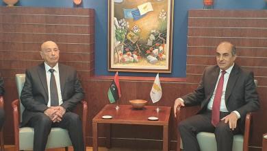 رئيس مجلس النواب عقيلة صالح، مع نظيره القبرصي ديمترس سيلورس