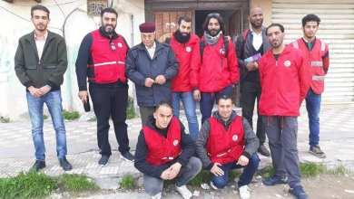 وصول أعضاء غرفة الطوارئ بالهلال الأحمر الليبي إلى مدينة الزاوية
