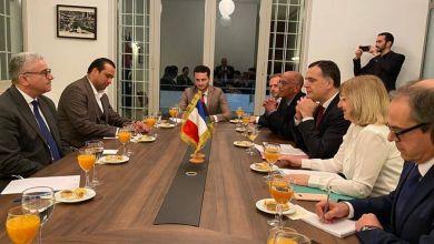 وزير داخلية الوفاق فتحي باشاغا يلتقي السفيرة الفرنسية ووفد من الخارجية