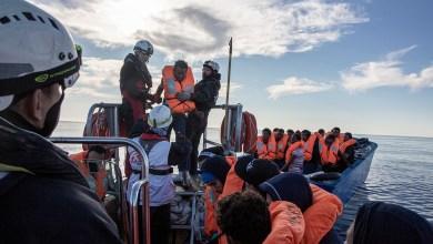 صورة نشرتها المنظمة لعملية الإنقاذ