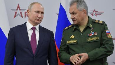 وزير الدفاع الروسي سيرغي شويغو والرئيس فلاديمير بوتين- إرشيفية