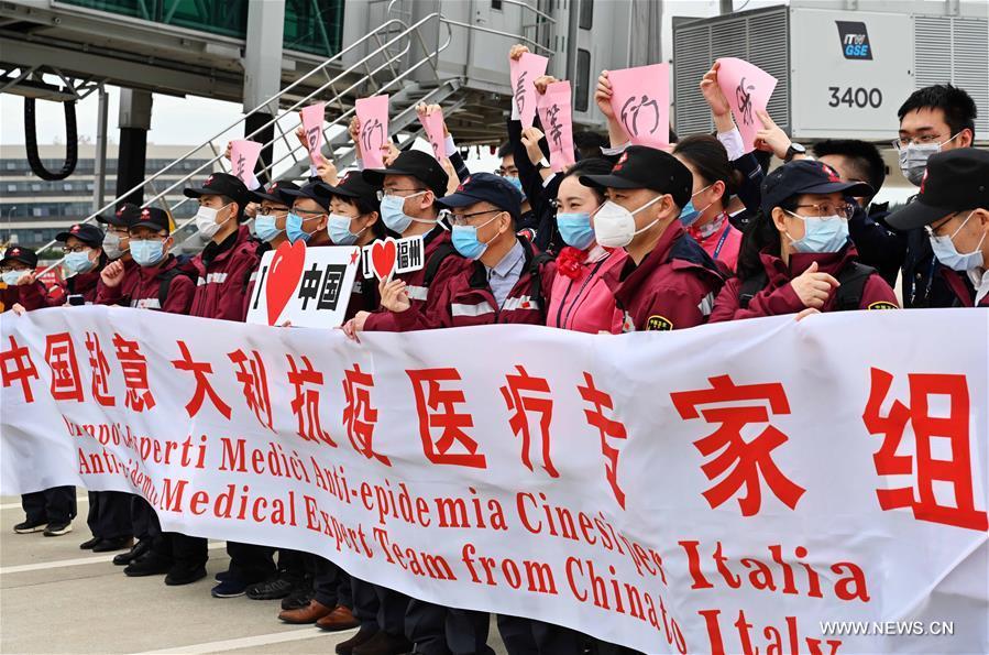 ثالث البعثات الطبية الصينية تتوجه إلى مساعدة إيطاليا لمكافحة كورونا