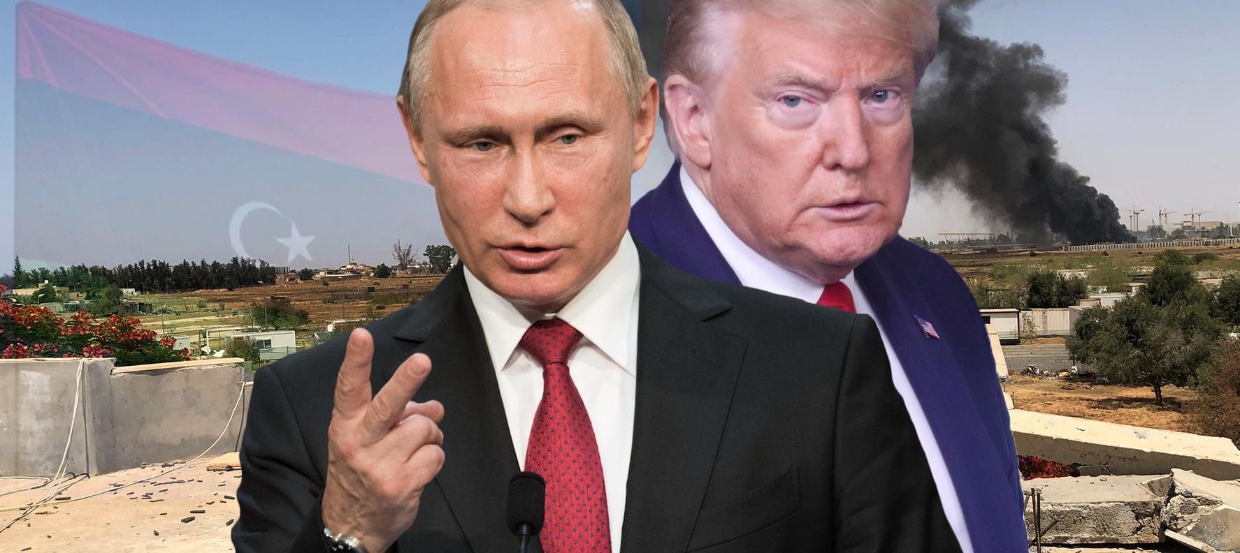 ترامب - بوتين - اشتباكات طرابلس