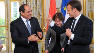 اتصال هاتفي بين السيسي وماكرون حول تطورات الوضع الليبي