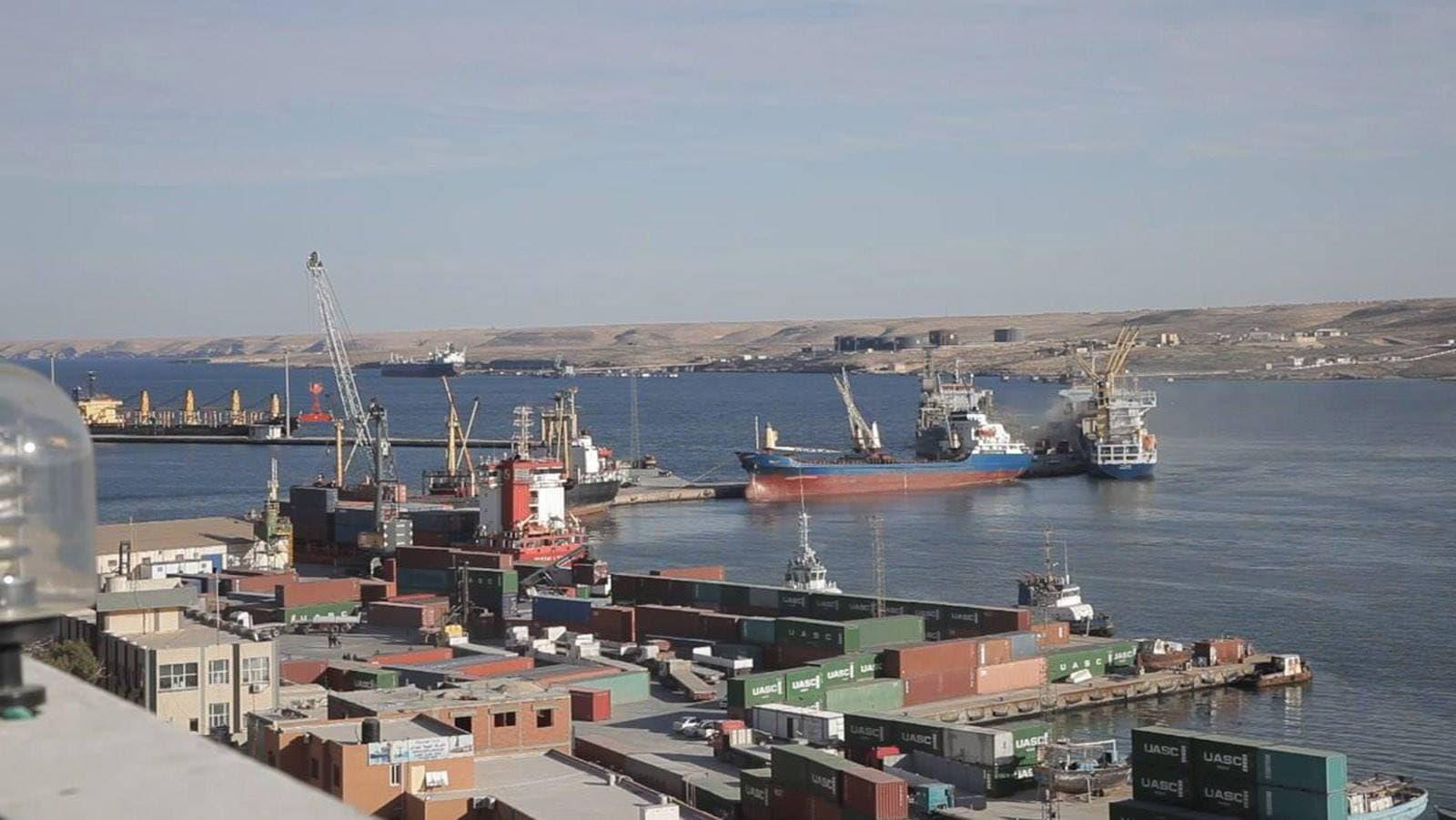 """ميناء طبرق البحري -""""أرشيفية"""""""