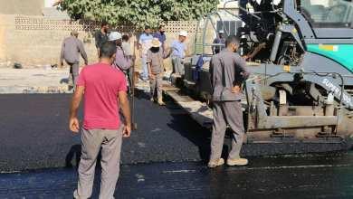 مكتب المشروعات ببلدية بنغازي يشرف على تعبيد الطريق للدائري الثاني