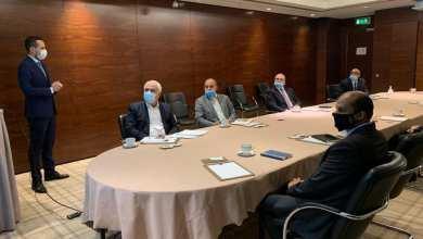 اجتماع المؤسسة الوطنية للنفط في لندن مع شركة شلمبرجير لمناقشة محاور نفطية منها إنشاء مركز للتدريب في بنغازي