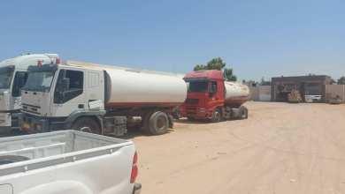 القوة المشتركة تضبط 4 سيارات نقل الوقود للتهريب جنوب الزنتان