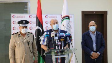 المؤتمر الصحفي للحملة الوطنية للتوعية المجتمعية لاحتواء جائحة كورونا ببلدية مصراتة