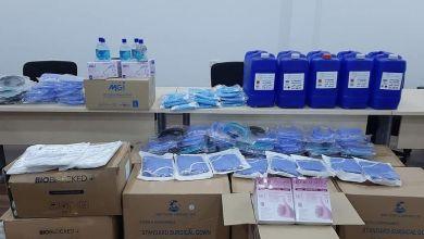 فريق الرصد يستلم من بلدية أبوسليم الاحتياجات الوقائية من كورونا