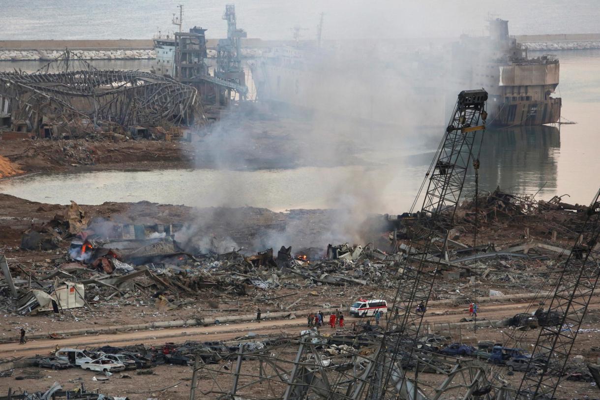 انفجار مرفأ بيروت- 4 أغسطس