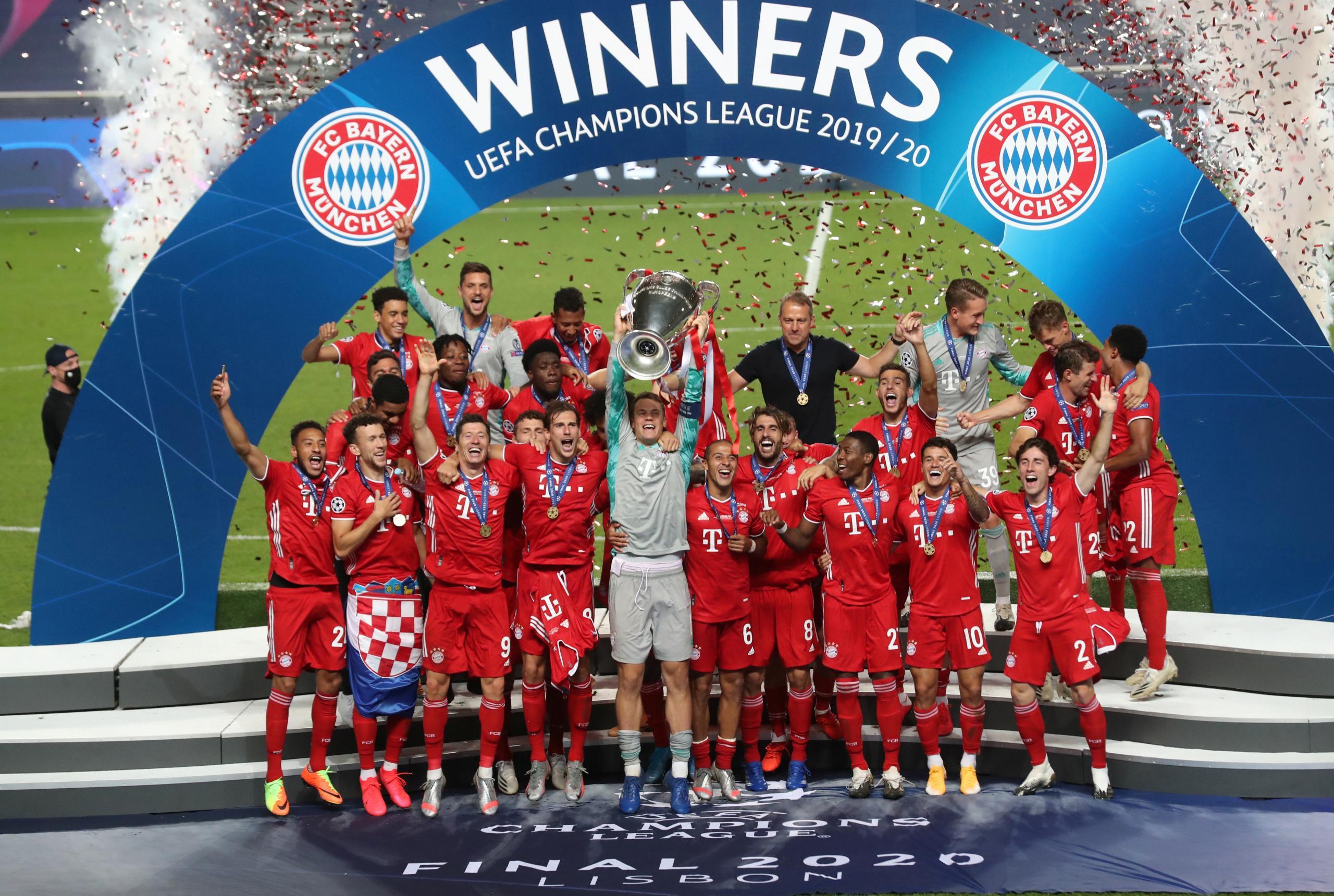 بايرن ميونيخ يحرز كأس دوري أبطال الأندية الأوروبية للمرة السادسة في تاريخه بعد تغلبه على باريس سان جيرمان في المباراة النهائية بالعاصمة البرتغالية لشبونة