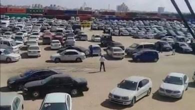 دفعة سيارات أوروبية تصل ميناء بنغازي