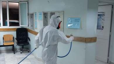 فريق الأزمات والطوارئ أبوسليم يشرع في تعقيم مصحة النفط طرابلس
