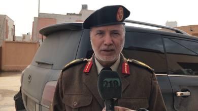 """اللواء أسامة الجويلي آمر المنطقة العسكرية الغربية التابعة لقوات الوفاق-""""أرشيفية"""""""