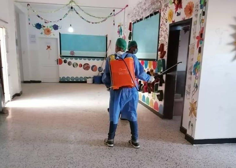 تعقيم المدارس ببلدية كاباو