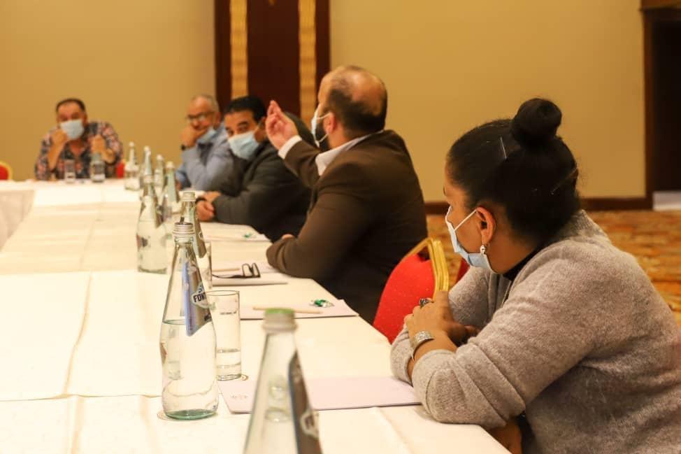 فاليتا.. جانب من لقاء وزير خارجية الحكومة الليبية مع الجالية الليبية في مالطا