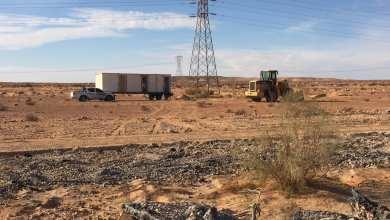 انطلاق أعمال الطريق الرابطة سيناون التابعة لبلدية غدامس بمدينة نالوت بالجبل الغربي