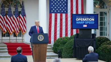 الرئيس الأميركي دونالد ترامب في أول ظهور له من البيت الأبيض بعد فوز منافسه بايدن بالانتخابات
