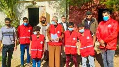 الهلال الأحمر الليبي ينظم حملة توعوية من كورنا للجاليات العربية