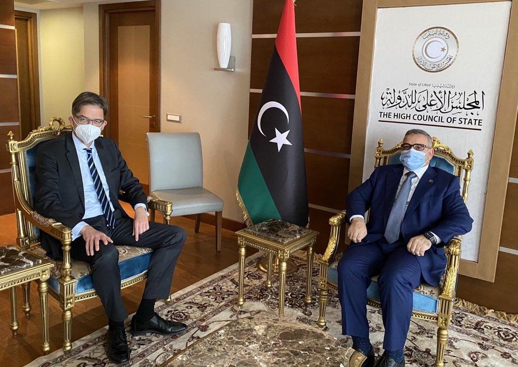 أوفتشا يبحث مع المشري مستجدات الملتقى السياسي الليبي