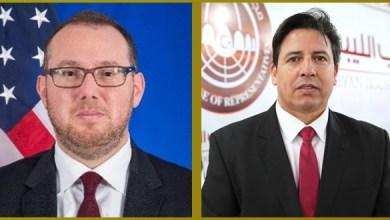 مكالمة هاتفية بين رئيس الشؤون الخارجية بالبرلمان الليبي يوسف العقوري ونائب السفير الأميركي جاشوا هاريس