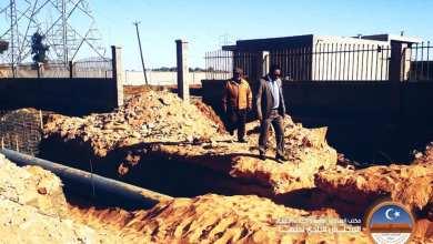 """""""بلدي سبها"""" يقف على سير العمل في مشروع الصرف الصحي بتمويل برنامج الأمم المتحدة الإنمائي"""