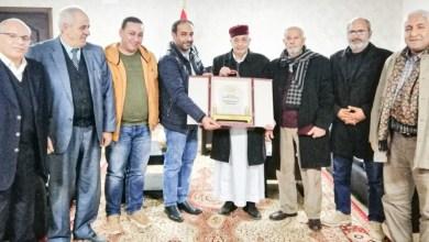 لقاء رئيس البرلمان الليبي عقيلة صالح مع غرفة التجارة والصناعة والزراعة بدرنة