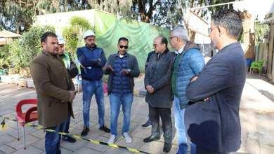 رئيس بلدي بنغازي في جولة على أعمال مشروع الطريقين الدائري الرابع والخامس
