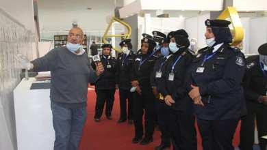 جانب من مشاركة منتسبات وزارة الداخلية في ملتقى الإبداع بمعرض طرابلس الدولي