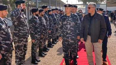 وزير الداخلية بحكومة الوفاق فتحي باشاغا حين وصوله لإدارة المهام الخاصة في مصراتة